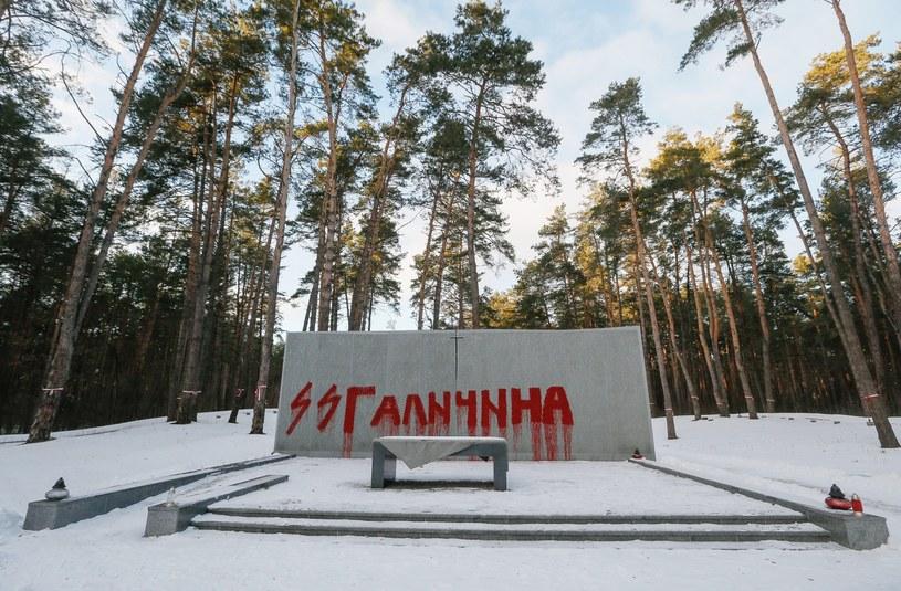 Zdewastowany cmentarz w Bykowni /SERGEY DOLZHENKO /PAP/EPA