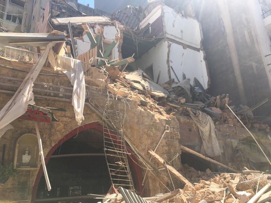 Zdewastowany po gigantycznej eksplozji Bejrut /FOT: PCPM LIBAN /