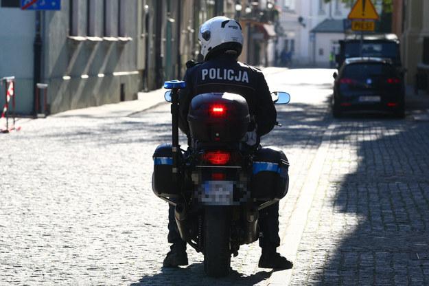 Zderzenie czterech policyjnych motocykli