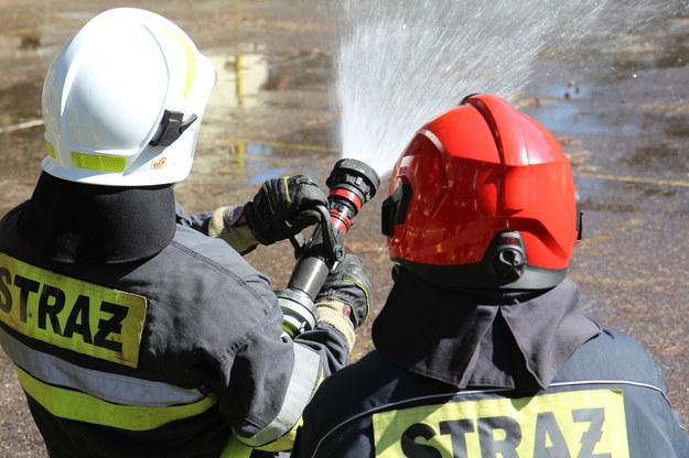Pożar hali magazynowej w Garwolewie