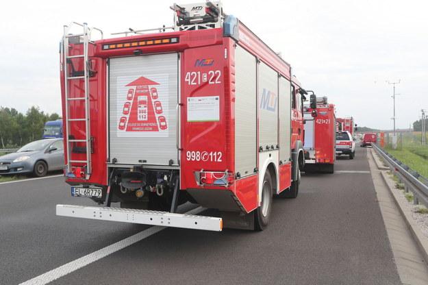 Strażakom udało się opanować duży pożar pól uprawnych