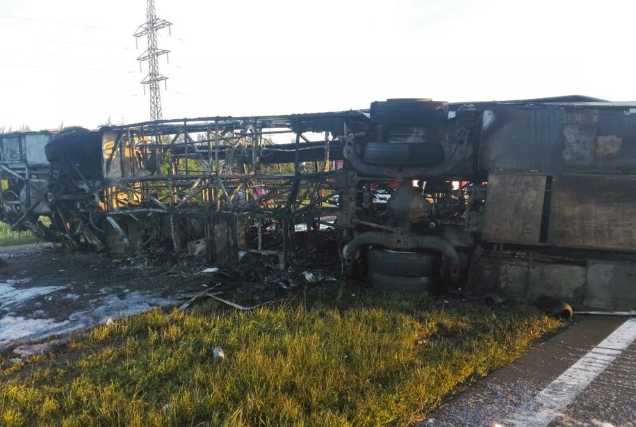 Zdj. z miejsca wypadku /PAP/EPA/RUSSIAN EMERGENCY MINISTRY/HO HANDOUT /PAP/EPA