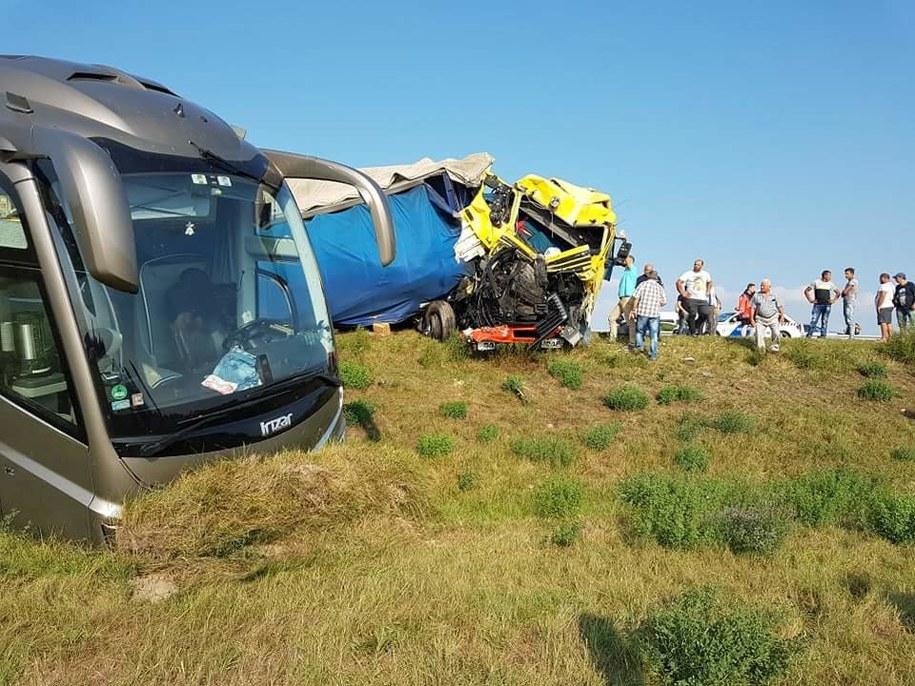 Zdj. z miejsca wypadku /Gorąca Linia RMF FM