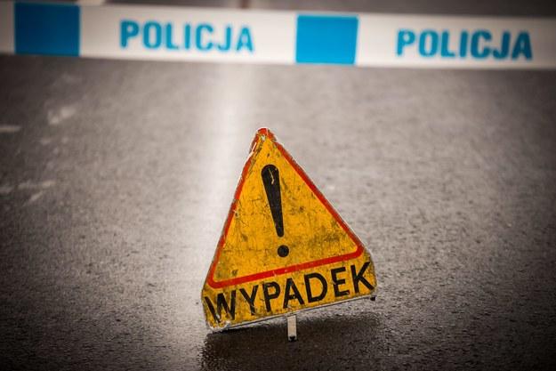 Zdj. z miejsca wypadku /\Tytus Żmijewski /PAP
