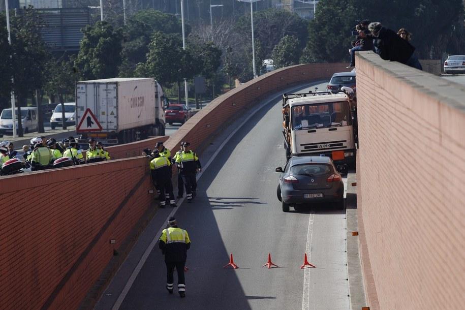 Zdj. z wydarzeń w Barcelonie /ALEJANDRO GARCIA  /PAP/EPA
