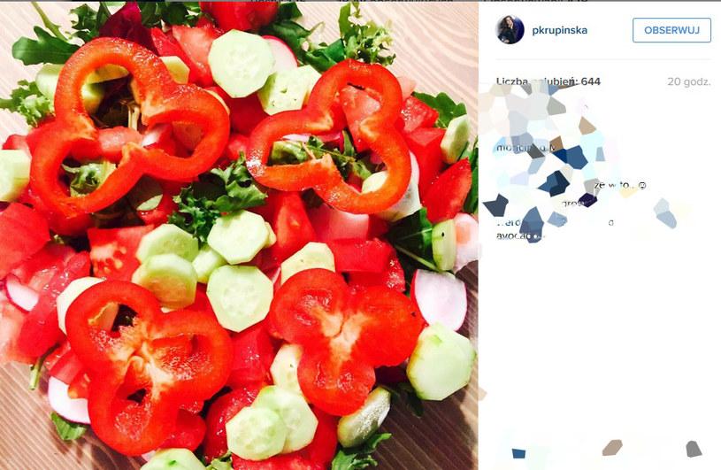 Zdjęci etakiej sałatki opublikowała na Instagramie Paulina Krupińska /Instagram/Paulina Krupińska /INTERIA.PL