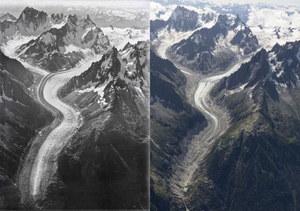 Zdjęcia Alp sprzed stu lat dowodzą skali zmian klimatu w Europie