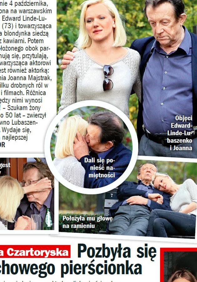 """Zdjęcia Edwarda Linde-Lubaszenko i Joanny Majstrak opublikowane przez tygodnik """"Życie na Gorąco"""" /Życie na gorąco"""