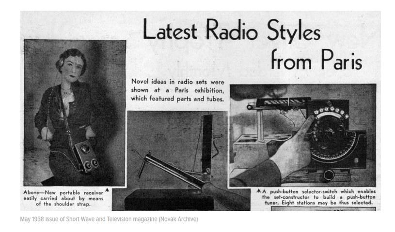 """Zdjęcia opublikowane w 1938 roku w magazynie """"Short Wave and Television"""". Zrzut ekranu z serwisu Gizmodo, za Novak Archive) /materiały prasowe"""