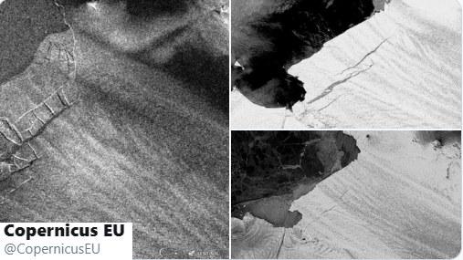 Zdjęcia satelitarne /The European Union Earth Observation Programme /Twitter