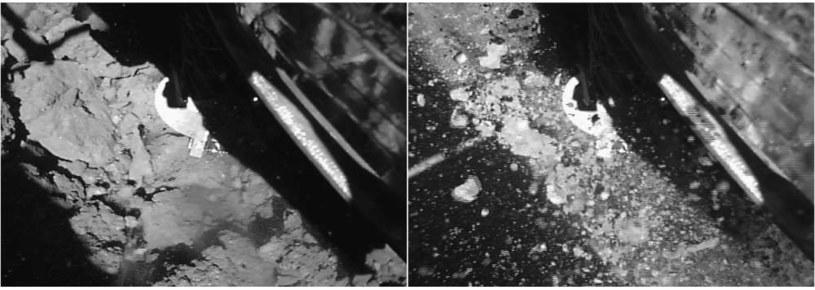 Zdjęcia wykonane z powierzchni planetoidy Ryugu /materiały prasowe