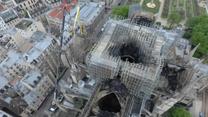 Zdjęcia z lotu ptaka ukazują ogrom zniszczeń katedry Notre Dame