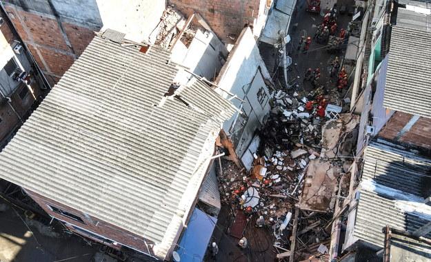 Zdjęcia z miejsca katastrofy /Antonio Lacerda /PAP/EPA