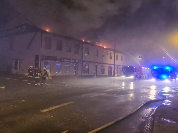 Zdjęcia z miejsca pożaru /KP PSP w Zgierzu /