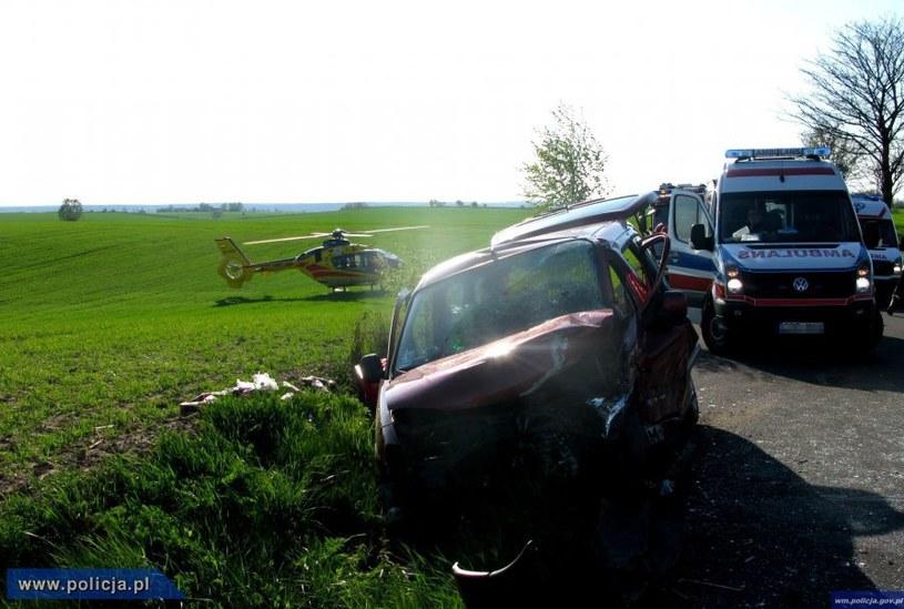 Zdjęcia z miejsca wypadku /Policja