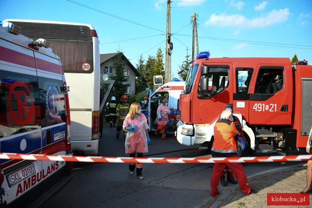 Zdjęcia z miejsca wypadku /Klobucka.pl /