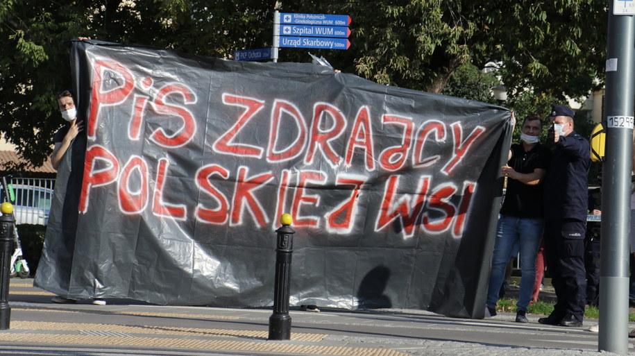 Zdjęcia z protestu przy ul. Nowogrodzkiej /Jakub Rutka /RMF FM