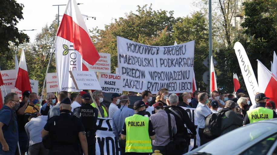 Zdjęcia z protestu rolników /Jakub Rutka /RMF FM
