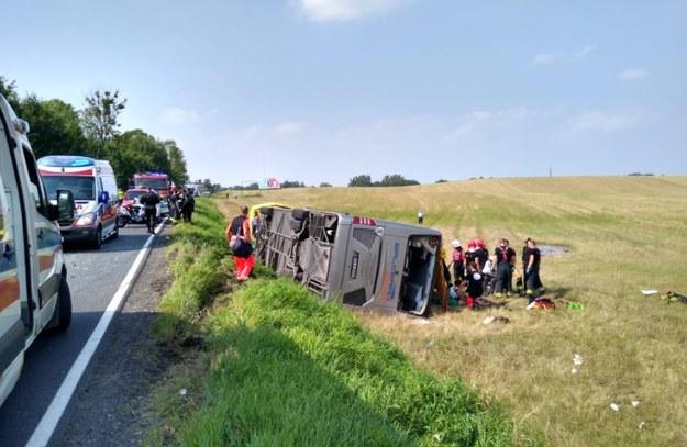 Zdjęcia z wypadku udostępniła na Twitterze olsztyńska policja /Policja
