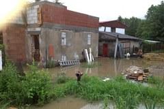 Zdjęcia z zalanej Skawiny: