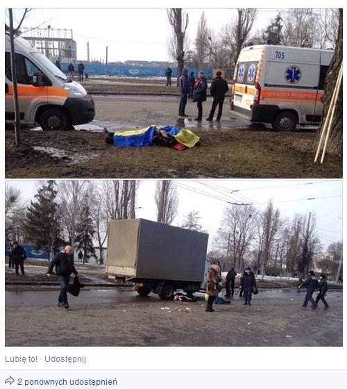 Zdjęcia z zamachu publikowane przez ukraińskie i rosyjskie media /facebook.com