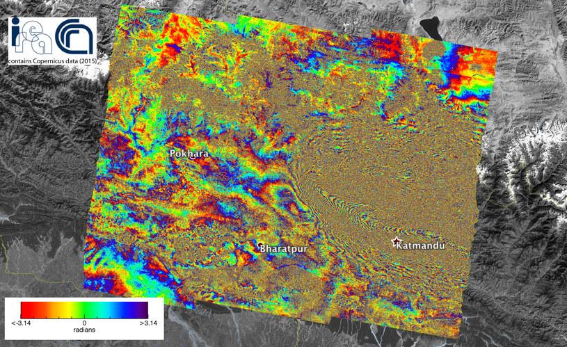 Zdjęcia Ziemi są dostępne dla każdego - tu przykładowe wykonane po trzęsieniu Ziemi w Nepalu /materiały prasowe