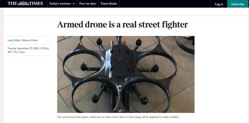 Zdjęcie drona umieszczone w publikacji The Times /materiał zewnętrzny