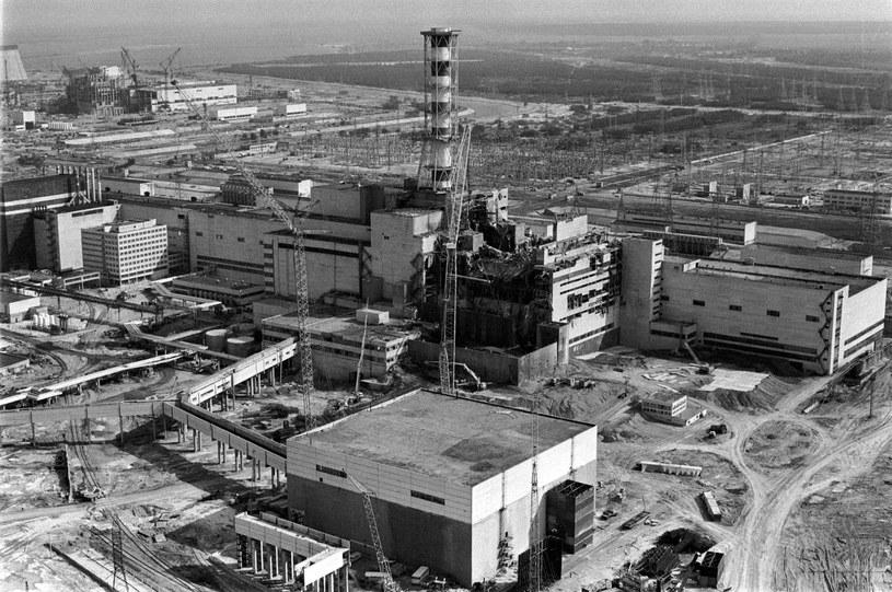 Zdjęcie elektrowni wykonane w kwietniu 1986 r. /AFP