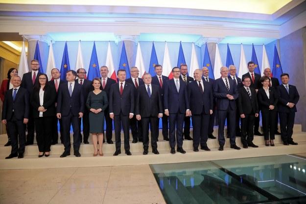 Zdjęcie grupowe Rady Ministrów /Wojciech Olkuśnik /PAP