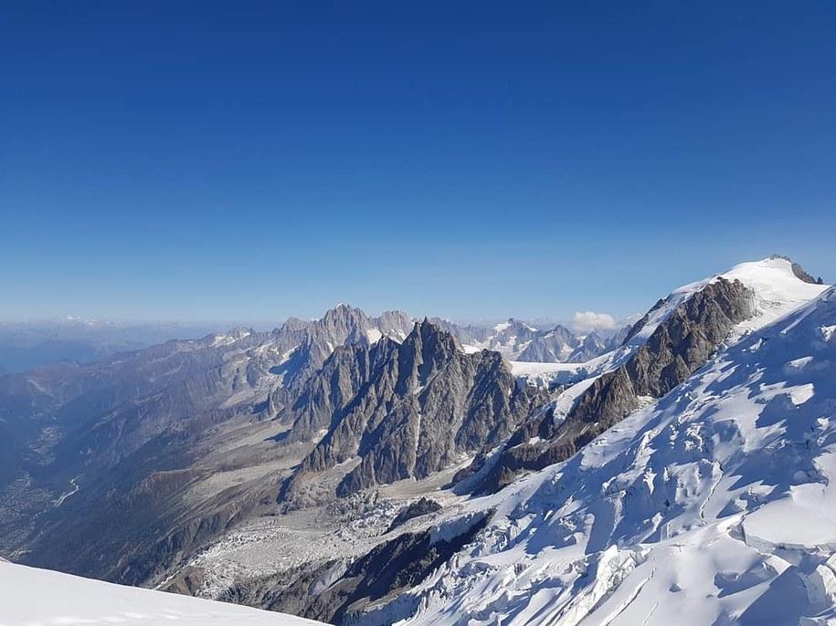Zdjęcie ilustracyjne. Widok z Mount Blanc /N. Makarewicz /