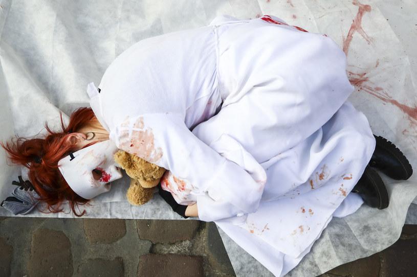 Zdjęcie ilustracyjne z protestu aktywistów nagłaśniających problem pedofilii /Beata Zawrzel /Getty Images