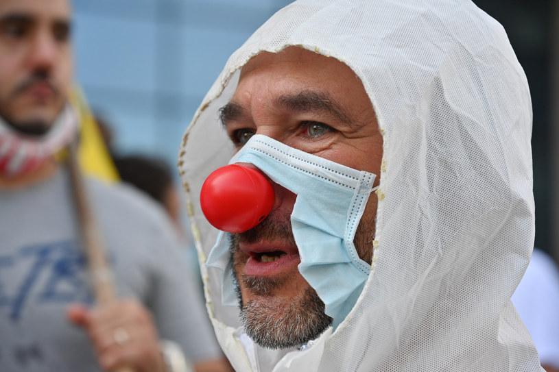 Zdjęcie ilustracyjne z protestu przeciwników noszenia maseczek w Brukseli /Isopix /East News