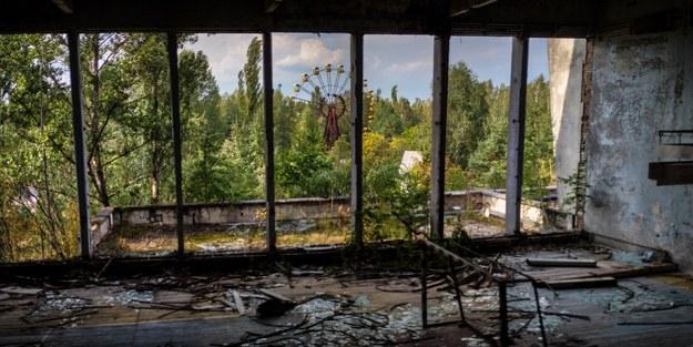 Pożaru lasu w strefie czarnobylskiej. Trwa gaszenie