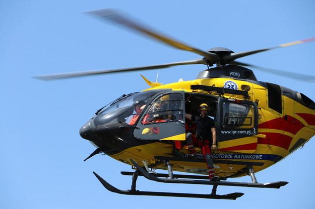 Śmigłowiec LPR lądował do wypadku. Uziemiła go awaria