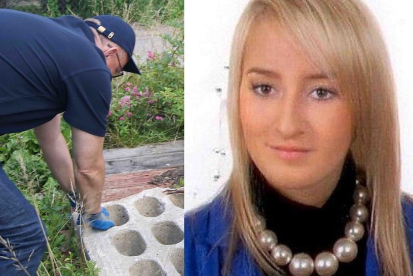 Zdjęcie Iwony Wieczorek oraz fotografia zrobiona podczas jej poszukiwań /materiały prasowe