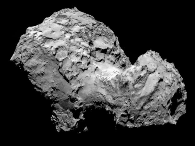 Zdjęcie komety 67p/Churyumov-Gerasimenko zrobione przez sondę Rosetta 3 sierpnia /materiały prasowe