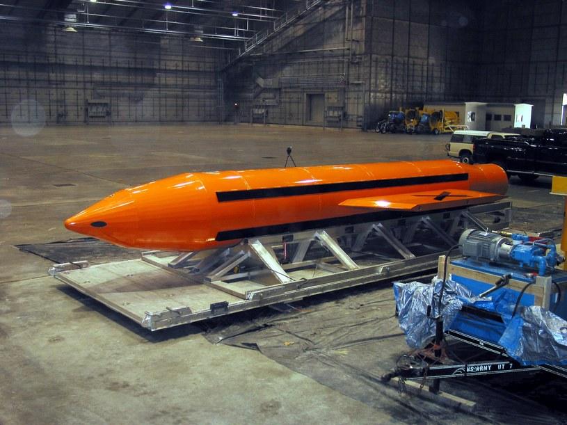 """Zdjęcie """"matki wszystkich bomb"""", udostępnione przez władze USA /PAP/EPA"""
