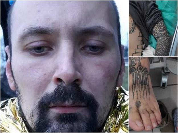 Zdjęcie mężczyzny i jego charakterystycznych tatuaży /Lubuska policja /Policja