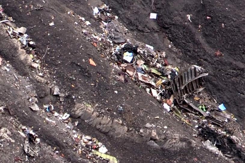 Zdjęcie miejsca katastrofy A320 we francuskich Alpach /AFP