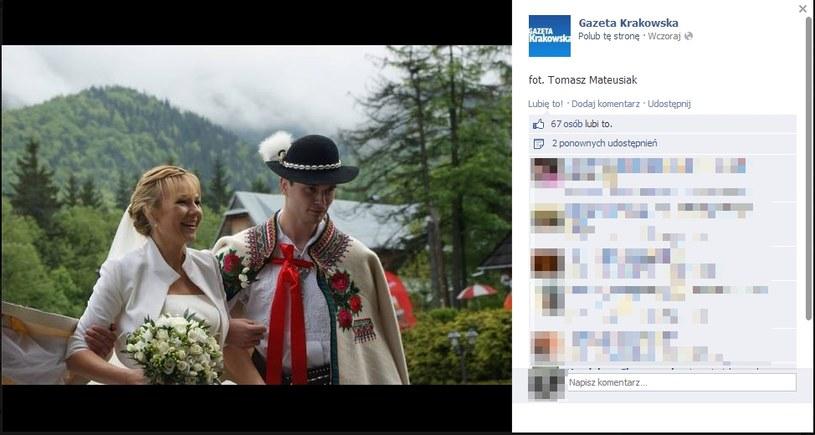 """Zdjęcie opublikowano na profilu """"Gazety krakowskiej"""" /INTERIA.PL"""