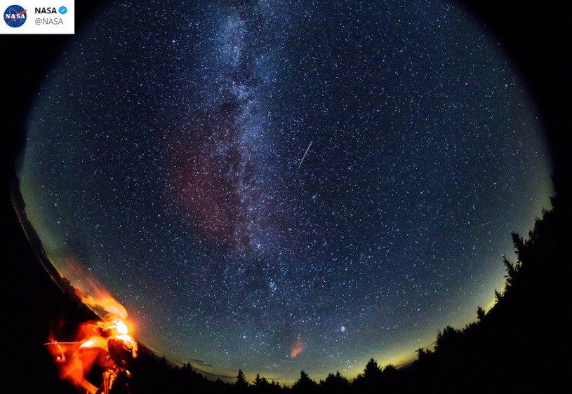 Zdjęcie Perseidów opublikowane przez NASA /NASA