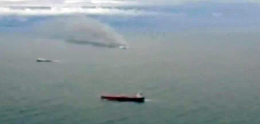 Zdjęcie płonącego promu /RAINEWS24 / HANDOUT /PAP/EPA