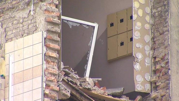Zdjęcie po wybuchu kamienicy /Polsat News