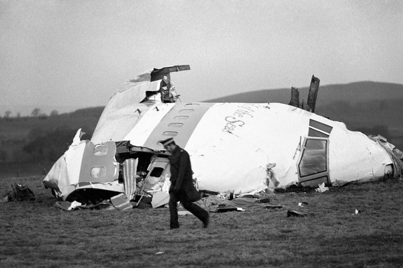 Zdjęcie pochodzące z akt z dnia 22/12/88 rozbitego odcinka nosa Boeinga 747 Pan-Am w Lockerbie /Agencja FORUM