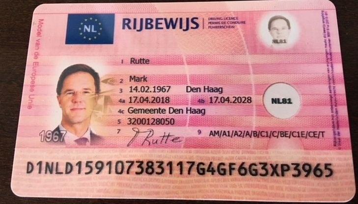Zdjęcie podrobionego prawa jazdy, które dziennikarze pokazali na Twitterze /