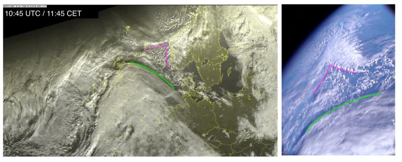 Zdjęcie porównawcze z satelity meteorologicznego /materiały prasowe