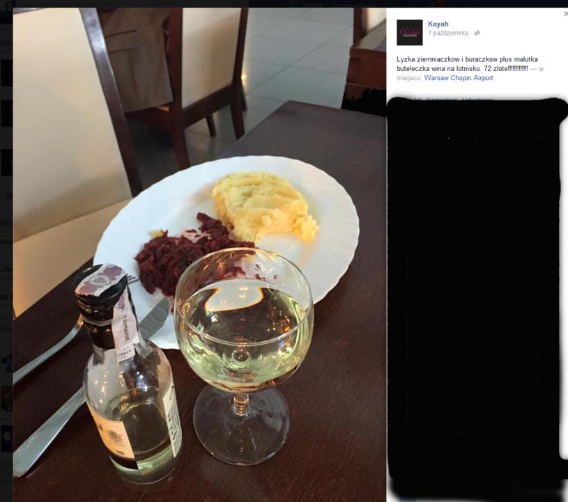 Zdjęcie posiłku opublikowane przez Kayah na Facebooku /oficjalna strona wykonawcy