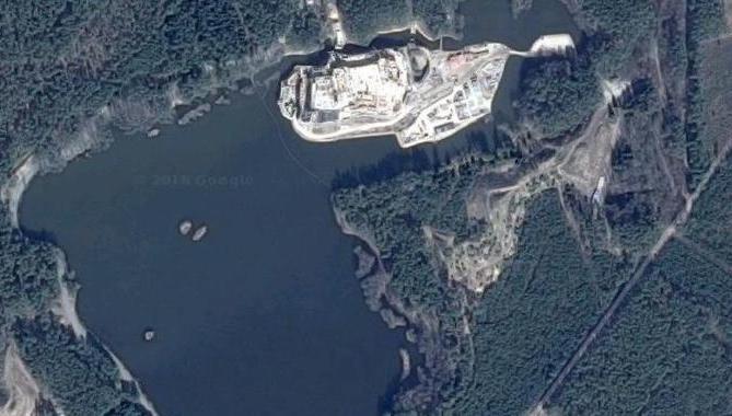 Zdjęcie powstającego zamku /Google Maps /Zrzut ekranu