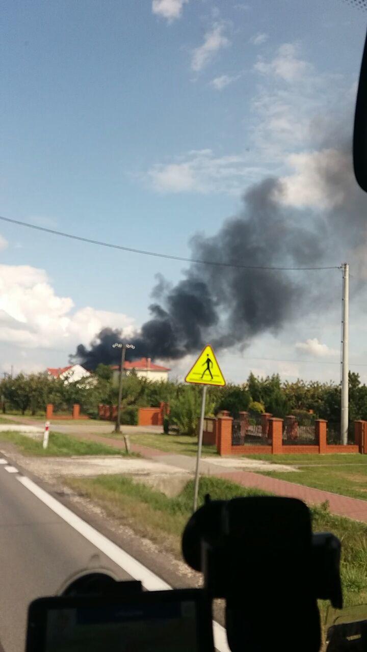 Zdjęcie pożaru w Stopnicy /Gorąca Linia RMF FM /RMF FM