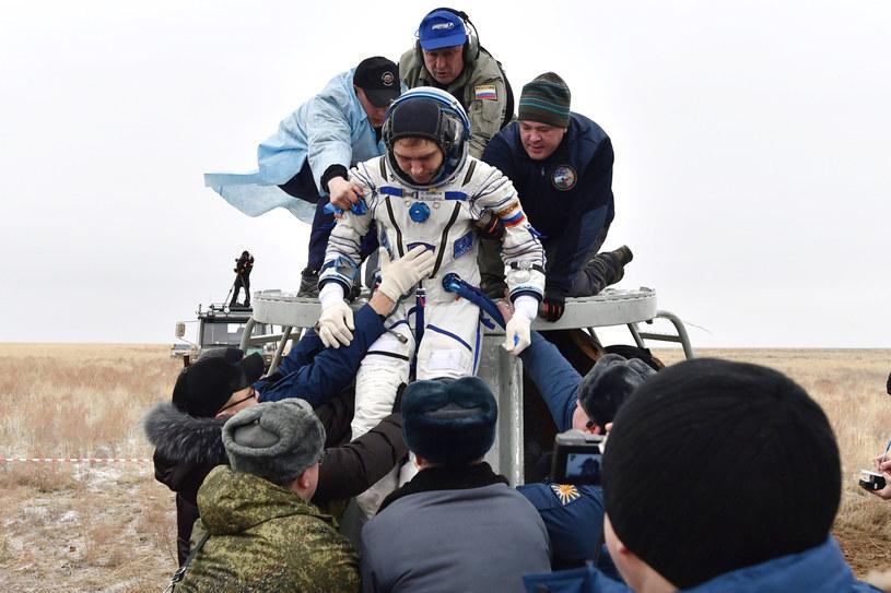 Zdjęcie przedstawia rosyjskiego astronautę Sergieja Wołkowa /Kirill Kudryavtsev /PAP/EPA